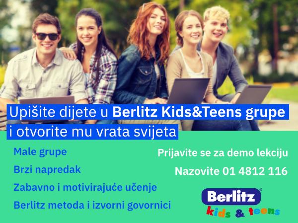 Upisi u Berlitz jezične tečajeve za djecu i mlade